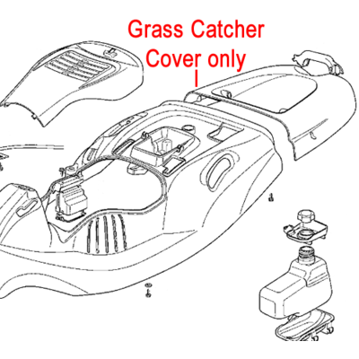 Mountfield Mountfield Grass Catcher Cover Grey 327110443/0