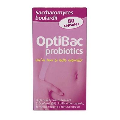 Optibac Probiotics Saccharomyces Boulardii 80 Capsules