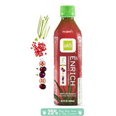 Alo Enrich - Aloe Vera, Pomegranate & Cranberry Juice 500ml