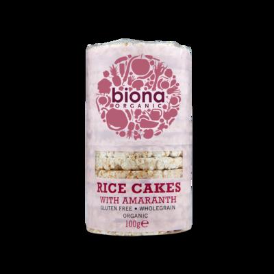 Biona Organic Rice Cakes with Amaranth 100g