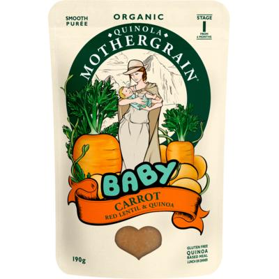 Quinola Mothergrain Organic Carrot Baby Food 190g