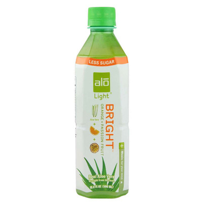 Alo Bright - Light Aloe Vera Drink with Orange & Passion Fruit 500ml