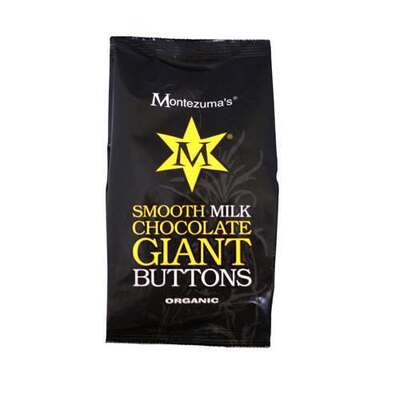 Montezumas Organic Smooth Milk Chocolate Giant Buttons 180g