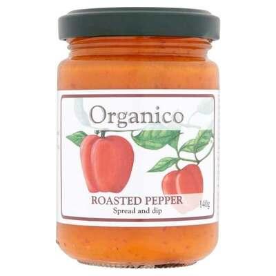 Organico Roasted Pepper Spread & Dip 140g