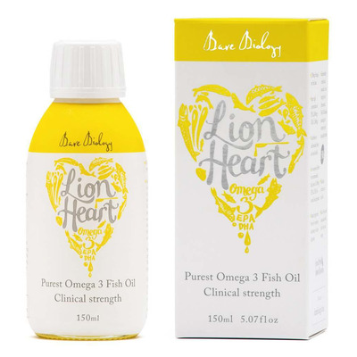 Bare Biology Lion Heart Purest Omega 3 Fish Oil 150ml