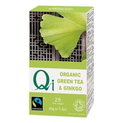 Qi Organic Fairtrade Green Tea & Ginkgo 25 Bags