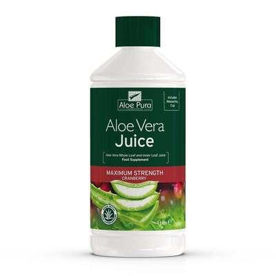 Aloe Pura Aloe Vera Cranberry Juice 1 Litre