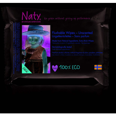 Naty By Nature Unscented Flushable Wipes