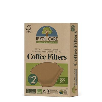 If You Care No. 2 Certified Compostable Coffee Filters 100 Pack
