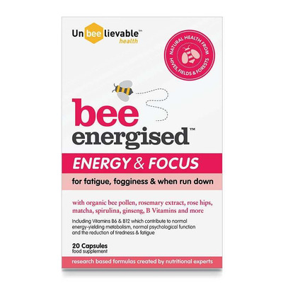 UnBEElievable Health Bee Energised Energy & Focus 20 Capsules