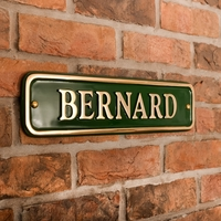 Brass Rectangle House Sign 43 x 10cm