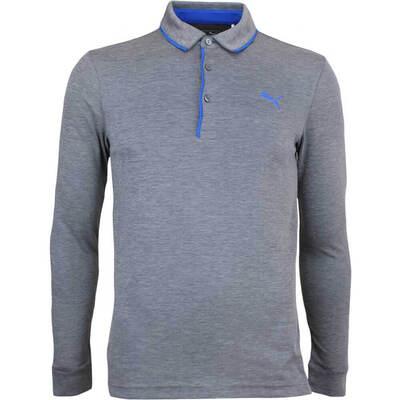 Puma Golf Shirt Tailored LS Polo Dark Grey Lapis Blue AW17