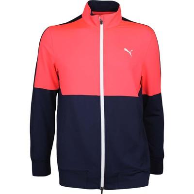 Puma Golf Jumper PWRWARM Track Jacket Fiery Coral AW17