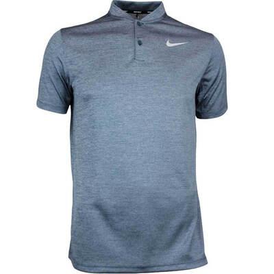 Nike Golf Shirt NK Dry Heather Blade Armory Blue AW17