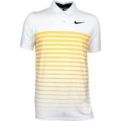 Nike Golf Shirt NK Dry Stripe White Laser Orange AW17