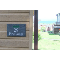 Smooth Slate Holiday Home Sign 30.5 x 20cm 3 line