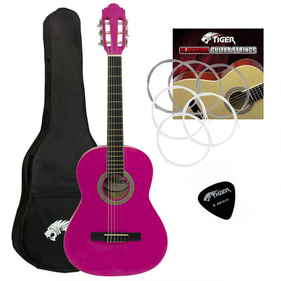 Jasmin Childrens 3/4 Size Classical Guitar Package - Pink