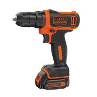 Image of Black & Decker 10.8V Lithium-ion Ultra Compact Cordless Drill