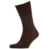 Hom Brown Cotton Modal Socks (uk 9-12)