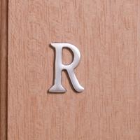 Self Adhesive 40mm Aluminium Letter R