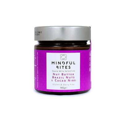 Mindful Bites Gluten Free Nut Butter Brazil Nuts & Cacao Nibs 185g