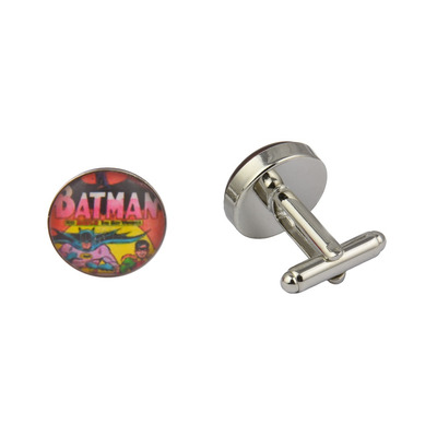 Superhero Batman and Robin Art Cufflinks