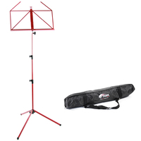 Tiger Portable Folding Sheet Music Stand with  Bag - Red