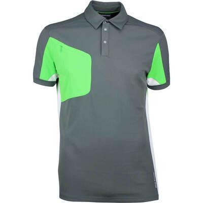 Galvin Green Golf Shirt MANNIX Iron Grey Fore Green SS18