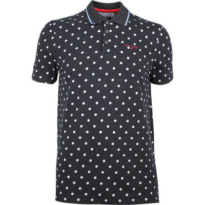 Ted Baker Golf Shirt Gulf Print Polo Black SS18