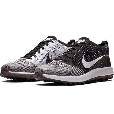 Nike Golf Shoes Flyknit Racer G Black White 2018