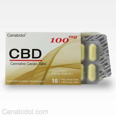 Canabidol CBD Cacao-Tabs 100mg - 10 Gel Tabs