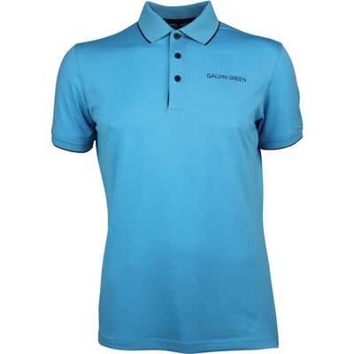 Galvin Green Golf Shirt Marty Tour River Blue AW18