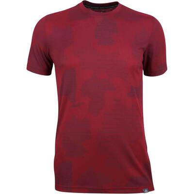 Adidas Golf T Shirt Adicross Graphic Tee Burgundy AW18