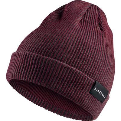 Nike Golf Hat NK Core Knit Beanie Burgundy Crush AW18