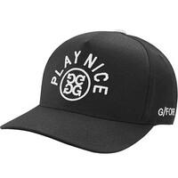 GFORE Golf Cap Play Nice Snapback Onyx AW18