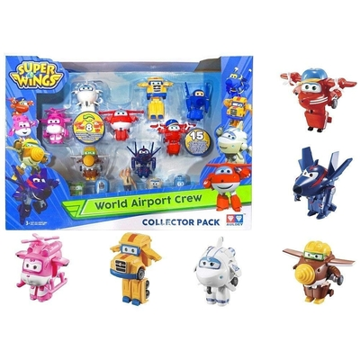Super Wings World Airport Crew, S2, Collector Pack, 15 Figures, 2 Figures