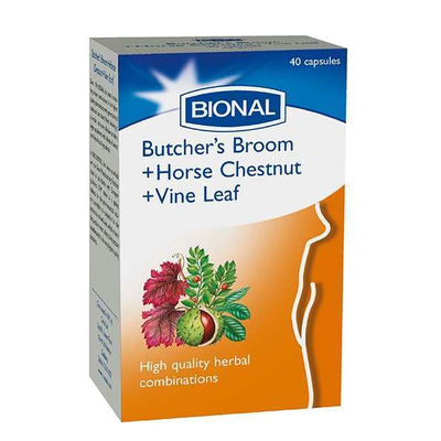Bional Butchers Broom Horse Chestnut & Vine Leaf 40 Capsules