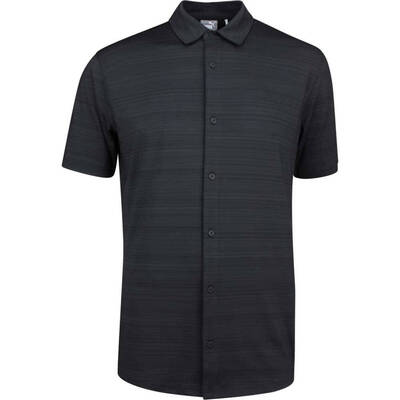 PUMA Golf Shirt Breezer Button Up Black LE SS19