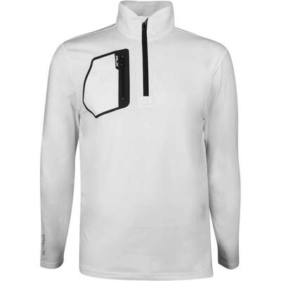 RLX Golf Pullover Brushback Tech Jersey Pure White SS19