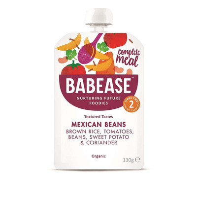 Babease Organic Mexican Beans 130g Stage 2 - Box of 6