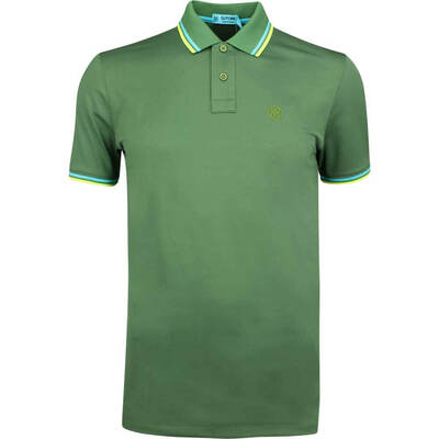 GFORE Golf Shirt Tipped Pique Polo Olive SS19