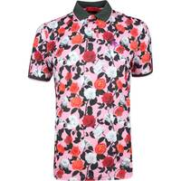 GFORE Golf Shirt Roses Printed Polo Pink Floral SS19