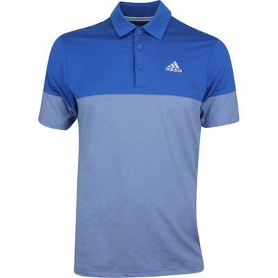 Adidas Golf Shirt Ultimate365 Heather Blocked Dark Marine SS19