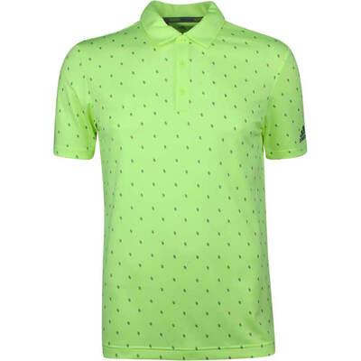 Adidas Golf Shirt Core Printed Polo Hi Res Yellow SS19