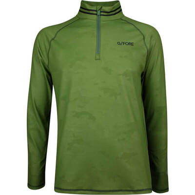GFORE Golf Pullover Camo Embossed Mid Olive SS19