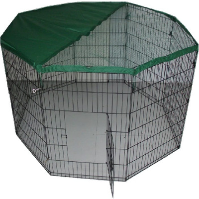 Pet Play Pen Enclosure - Black with Safety Net