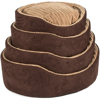Ancol Timberwolf Faux Suede Oval Pet Bed