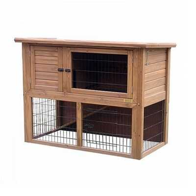 Lazy Bones Rabbit Medium Double Hutch & Run