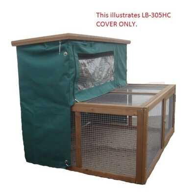 Lazy Bones Rabbit Hutch with Double Run