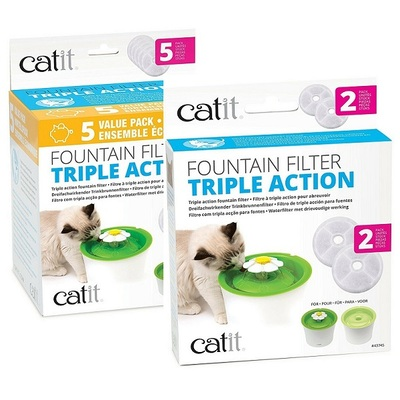 Catit Triple Action Replacement Fountain Filter